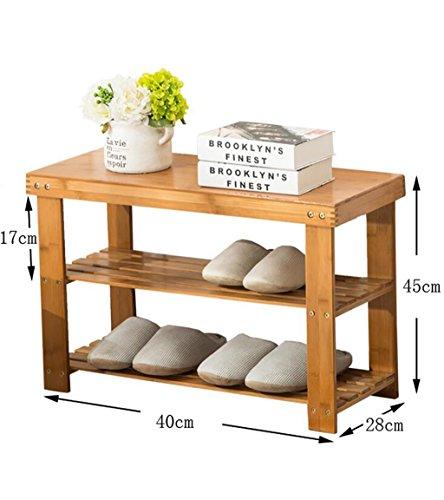 Étagères en bambou étagères en bambou étagères à bas prix en bois massif en bois massif étagères économiques étagères économiques salon de la maison armoire à chaussures ( Couleur : A , taille : 40 cm )