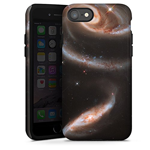 Apple iPhone X Silikon Hülle Case Schutzhülle Galaxy Space Galaxie Tough Case glänzend