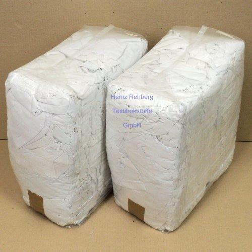 Rehberg´s 20 kg Putzlappen geschnitten aus Kattun weiss Baumwolle Putztücher
