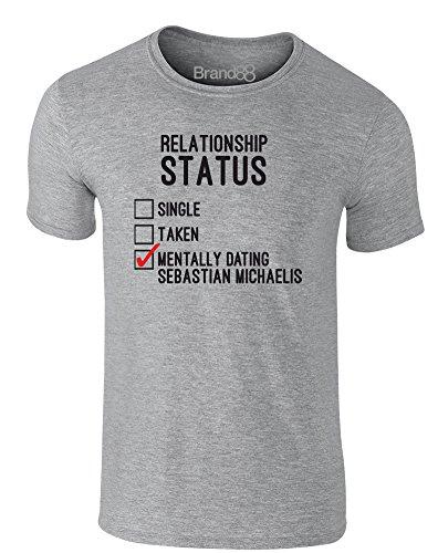 Brand88 - Mentally Dating Sebastian Michaelis, Erwachsene Gedrucktes T-Shirt Grau/Schwarz/Rote
