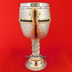 Crusader Knight cáliz Ornament Medieval caballeros templarios potable taza