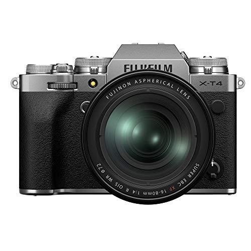 Oferta de Fujifilm X-T4 16651277 - Kit de cámara con Objetivo XF16-80/4, Color Plateado
