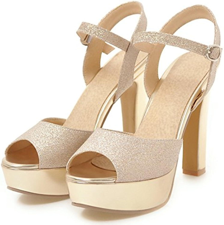 KPHY Bouche De Poisson  s Summer Des Chaussures De De Chaussures Femme Joker 11Cm Sexy Rétro Rude Talons Hauts.B07DBNXYJ6Parent cf2a54