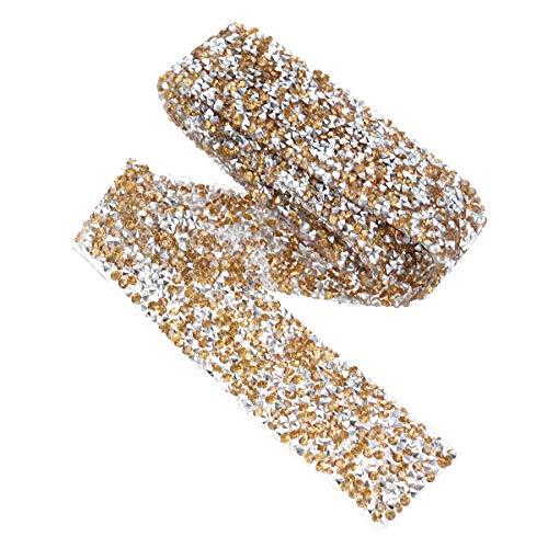 TENDYCOCO Perlen Gürtel für Brautkleid Diamant Brautgürtel (3cm, Crystal Yellow)