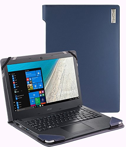 Broonel - Profile Series - Blue Leather Luxury Laptop Case For The Acer TravelMate P2510-M