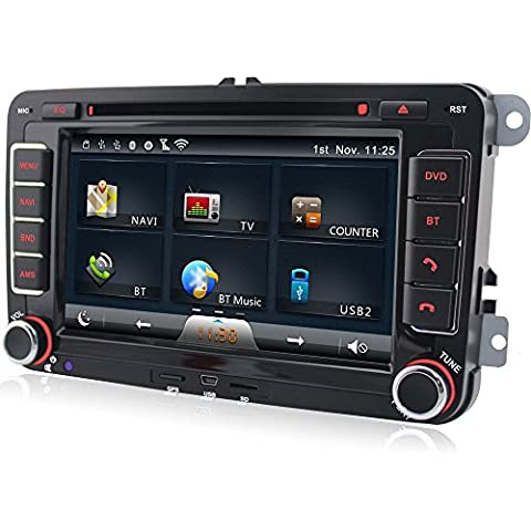 A-Sure GPS DVD auto radio per VW T5POLO GOLF 56Passat Tiguan Touran Sharan Caddy Skoda Seat