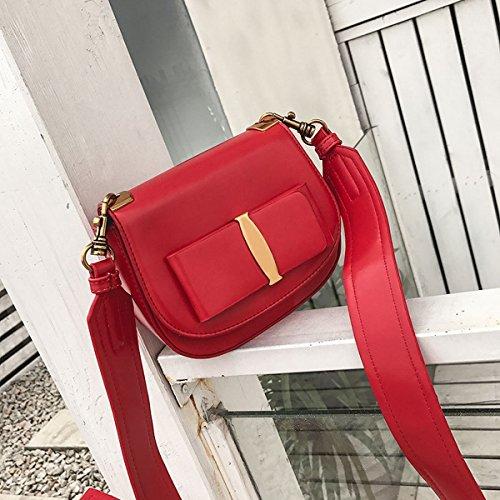 Süßer Art Bowknot Kleine Quadratische Tasche Breite Schultergurt Schulter Messenger Tasche Japan und Südkorea Paket Rot