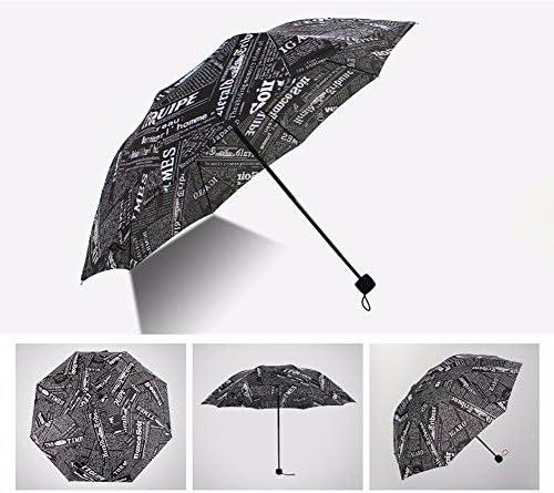 CNBBGJ CNBBGJ CNBBGJ Retrò ripiegabile ad ombrello il giornale per donna a doppio uso ombrelloni per piovoso e soleggiato uomo Super creativo vinil ombrello ombrelloni,non-gel-nero | Moderno Ed Elegante Nella Moda  | Chiama prima  bda28b