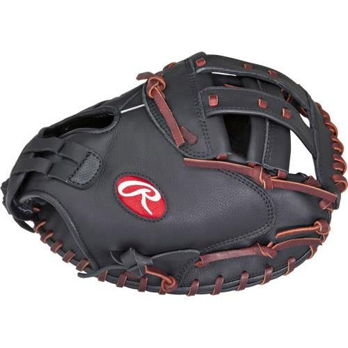 Rawlings Gamer Softball Handschuh Serie, damen, GSBCM33-3/0, Black Catcher's Mitt, 83,8 cm (33 zoll) (Catchers Rawlings Ausrüstung)