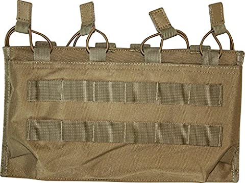 VIPER TACTICAL MOLLE QUAD MAGAZINE POUCH COYOTE M4 M16 MAG POUCH AIRSOFT ARMY