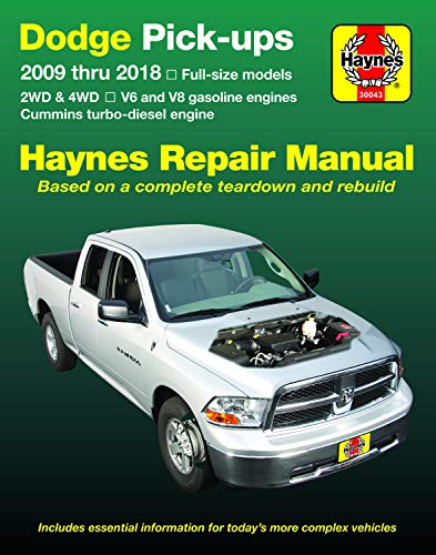 Dodge Pick-Ups 2009 Thru 2018 Haynes Repair Manual: Full-Size Models * 2wd & 4WD * V6 and V8 Gasoline Engines * Cummins Turbo-Diesel Engine (Hayne's Automotive Repair Manual) - Cummins-diesel-motor