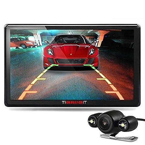 junsun 7 pouces GPS portable voiture Système de navigation Unités 8GB / 256MB écran capacitif véhicule Truck Sat Nav GPS gratuit Map Update (Vue arrière)