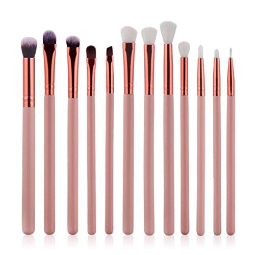 Brosses de maquillage ensemble,Siswong 10pcs Brosse élégante de maquillage Kit fond de teint blush Dissimulateur cosmétique Outils de beauté (Rose)
