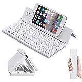 Doogee Titans 2 DG700 Smartphone Wireless Aluminium Minitastatur / Faltbare Bluetooth QWERTY Keyboard - F18 Weiß