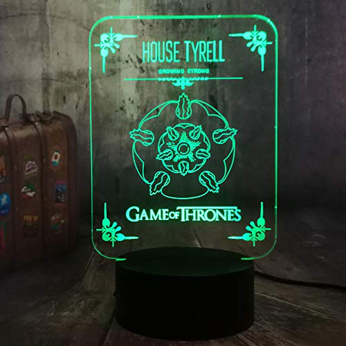 wangZJ 7 Farbwechsel Nachtlicht Sammlerstück / 3d Led Tisch Schreibtischlampe/Cartoon Figur Kinder Nachttischlampen Lampe/Game of Thrones