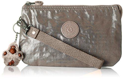 Kipling Damen CREATIVITY XL Münzbörse, Gold (Metallic Pewter), 21.5x13.5x4 cm -