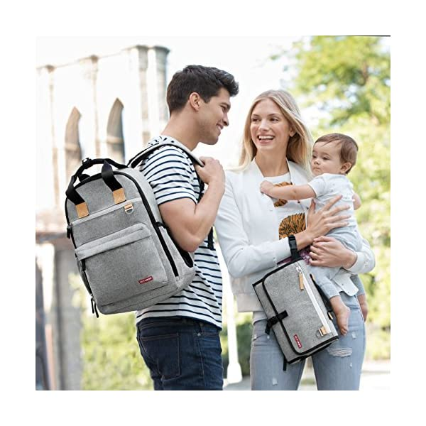 Skip Hop Pronto Signature Tote Bag, Grey Melange Skip Hop Front zipper pocket for keys, wallet, phone, and personal items Drop it in any bag, strap it to your wrist or clip it to your stroller Pronto pillow keeps baby's head comfy 9