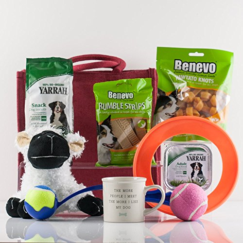 Natures Hampers Dog & Owners Treats Gift Bag - Dog Hamper - Dog Gift Set - Dog Gifts Basket - Healthy Dog Snacks - Birthday for Dog - Christmas Dog Treat - Xmas Dog Present