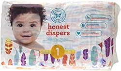 The Honest Company The Honest Company Disposable Baby Diapers Painted Feathers Size 1 44 ct