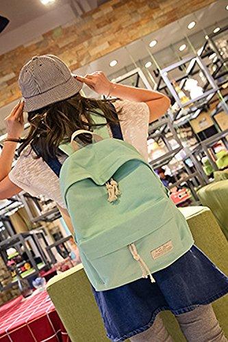 Vococal® Mädchen Student Katze Ear Design Leinwand Schulranzen Schulrucksäcke - Multi-purpose Outdoor Reisen Niedlich Rucksäcke Schultasche Laptoprucksäcke, Beige #4