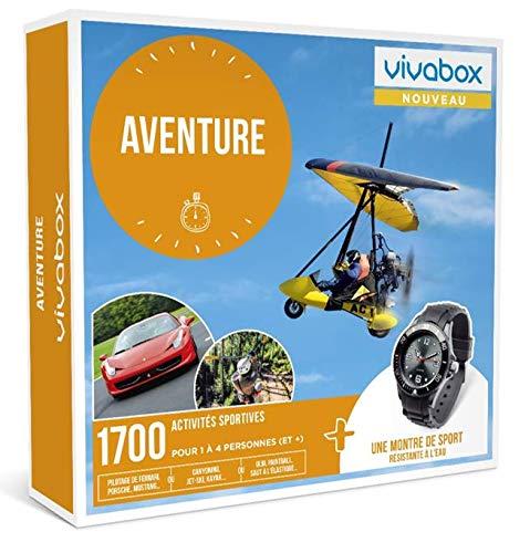 Vivabox - Coffret cadeau - AVENTURE - 1700 activités sportives + 1 montre de sport