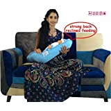 Hoopa Infant/Baby Feeding Reclined Carrier/Pillow (Blue)