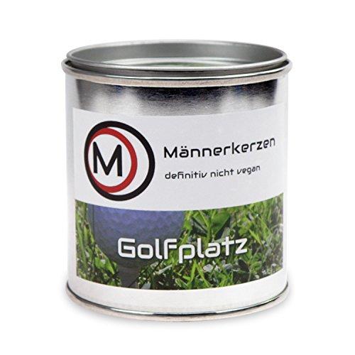 Männerkerze - mit dem Aroma von Genuss und Abenteuer - Sorte Golfplatz
