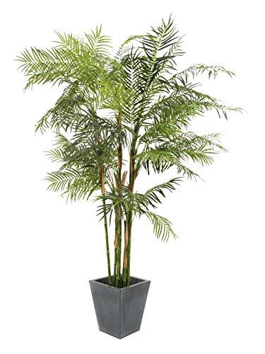 artplants Kunstpflanze Areca Palme mit imposanten Stammwerk, 280 cm – Kunstpalme/Areca Palme künstlich