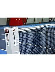 Netsportique Tennisnetz Doppel EXPERT 12,8 m, PE 3 mm, Wetterfest und UV-Schutz, Komplett Doppelmaschig