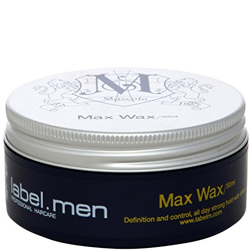 Label.M Mens Max Wax (Definition and Control, All Day Strong Hold with Shine) 50ml