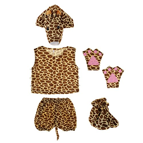 kostüm Tier Kostüm Baby Fotoshooting Kostüm für Halloween Karneval Fasching - Giraffe ()