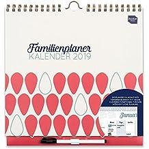 Boxclever Press 2019 Familienplaner Kalender, Wochenkalender. Großer Familienkalender mit Wochenansicht und 6 Spalten. Ab sofort nutzbar mit Laufzeit bis Dezember 2019