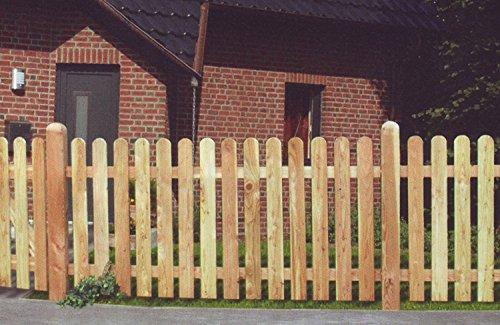 Jorkisch Holsteinzaun Lärche KDI 180×80 Zaun Holz Holzzaun Gartenzaun Friesenzaun