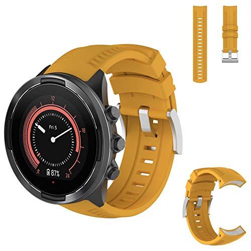 AUTOECHO Armband für SUUNTO 9 Baro Straps Multisport Smart Watch mit strapazierfähigem kratzfestem Silikon Ersatzarmband für Herren Damen (3-farbig)