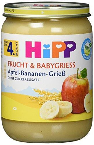HiPP Frucht und Babygrieß Apfel-Bananen-Grieß, 1er pack (1 x 190 g)