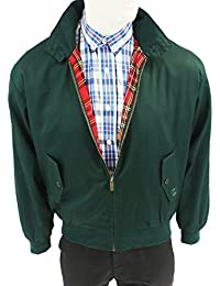 Warrior Harrington Jacket Coat Mod Tartan Check Forest Green