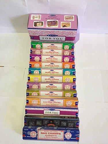 Satya-Genuine-SATYA-SAI-BABA-NAG-CHAMPA-VARIETY-MIX-12-X-15G-BOXES-OF-INCENSE