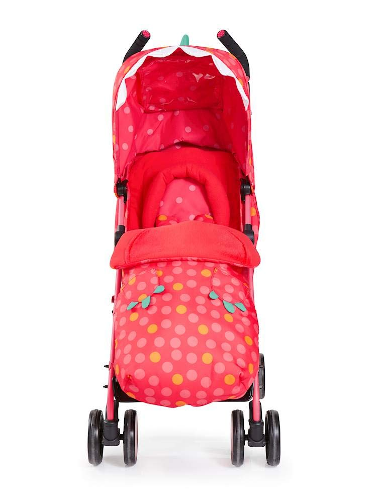 Cosatto Supa 2018 Baby Stroller, Suitable from Birth to 25 kg, Miss Dinomite Cosatto Suitable from birth up to 25 kg stroller; umbrella fold lightweight aluminium chassis with carry handle and folded free-standing feature For added comfort Supa 2018 has an integral upf100+ extended hood; one handed four position seat recline and adjustable calf support Supa 2018 has everything you need: Spacious storage basket, co-ordinating fleece lined footmuff, reversible washable liner, chest pads and recent born head hugger, rain cover and handy cup holder 5