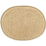 Alfombra de baño alfombra de baño, honestyi® antideslizante Fluffy Shaggy área alfombra–home dormitorio baño piso puerta mat-brown–uso en interiores/al aire libre 30*40cm marrón