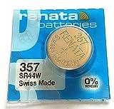 Zwei Batterie renata 357 SR44W 13 GS