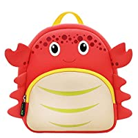Christmas Gift for Girls NOHOO Kids Shoulder Bag 3D Cartoon Underwater Sea Animal World Red Crab