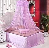 Moskitonetz Röcke Mücken- und Insektenschutz Bettvorhang für Doppelbett Einzelbett Kinderbett Urlaub Segel (Spitze Rosa) -