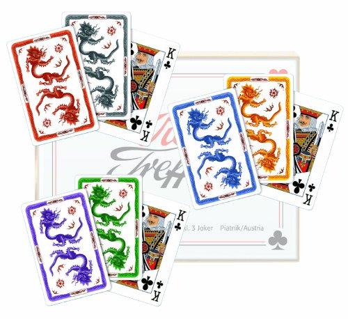 """Preisvergleich Produktbild Spielkarten """"Meissen - Ming Drache"""" - Set aus sechs Farben"""