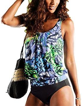 Summer Mae Damen Gemustert Tankini-Set Badeanzug für Frauen