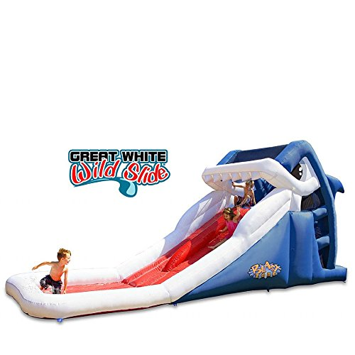 Blast Zone GE-GWWS Great White Inflatable Double Racing Slide