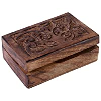 Something Different Tree of Life Box, Wood, Brown, 15 x 10 x 6 cm