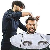 Friseur Umhang, Haar Ausschnitt mhang Regenschirm Salon Friseur Wasserdichter Friseurumhang Friseur Haar für Erwachsenen(Weiß)
