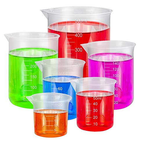 BUZIFU 6pcs Vasos Medidores de Plástico