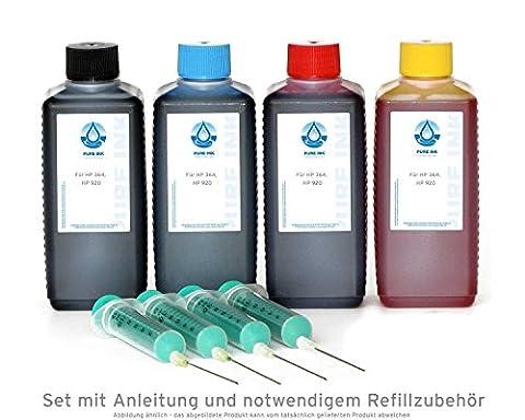 PureInk encre d'impression de rechange (4x100 ml) pour HP 300, 364, 920 Cartouches d'encre HP Deskjet 3070 A, 3070, 3520, 3521, 3522, 3524, D 1600, D 1658, D 1660 (Non OEM)