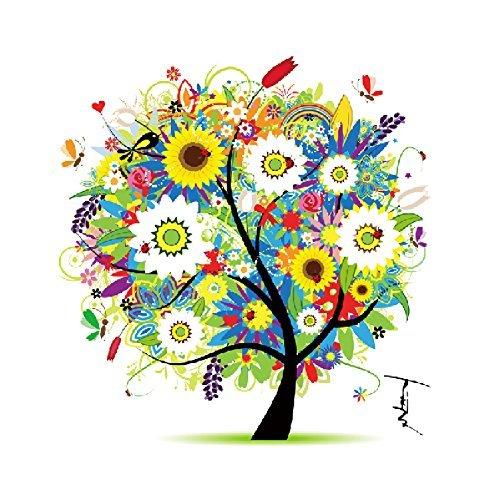 Yontree Kreuzstich Stickerei DIY Handarbeit Stickpackung Set vom Baum des Lebens (Herbst-cross Stitch)